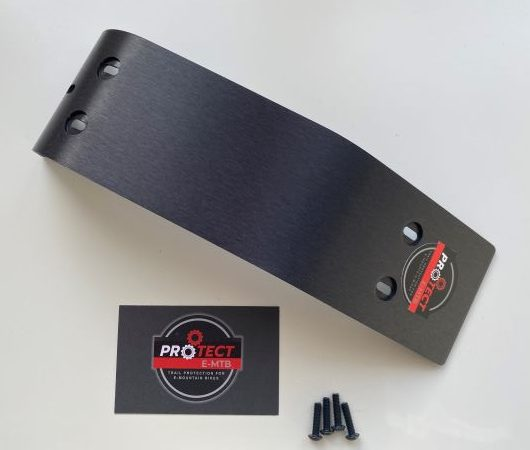 BASH GUARDS FOR CUBE STEREO HYBRID 140/160 IN HARD ANODISED BLACK